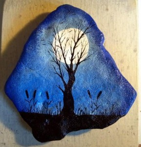 pictură pe piatră 4