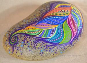 pictură pe piatră 8
