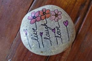 pictură pe piatră 11